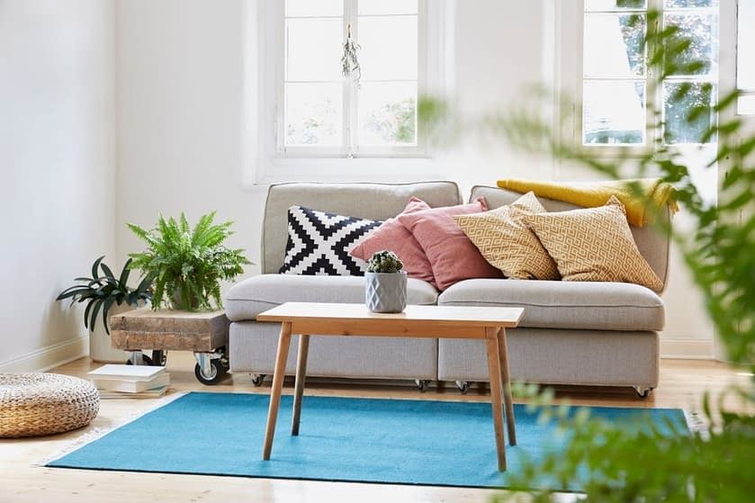Throws and cushions to make your home lively